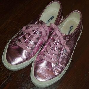 Superga shoes metallic pink